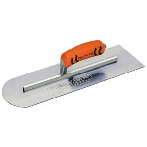 "Kraft Tool-16""x4"" Round Front/Square Back Cement Trowel w/ProForm® Handle"
