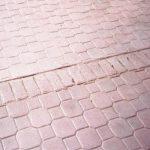Cobble Paver with Old Brick Soldier CoursePrint