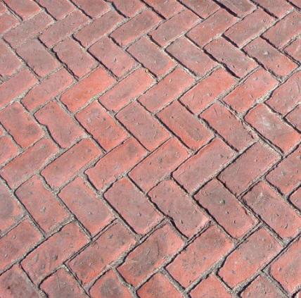 Old Brick Herringbone Concrete Texturing Com
