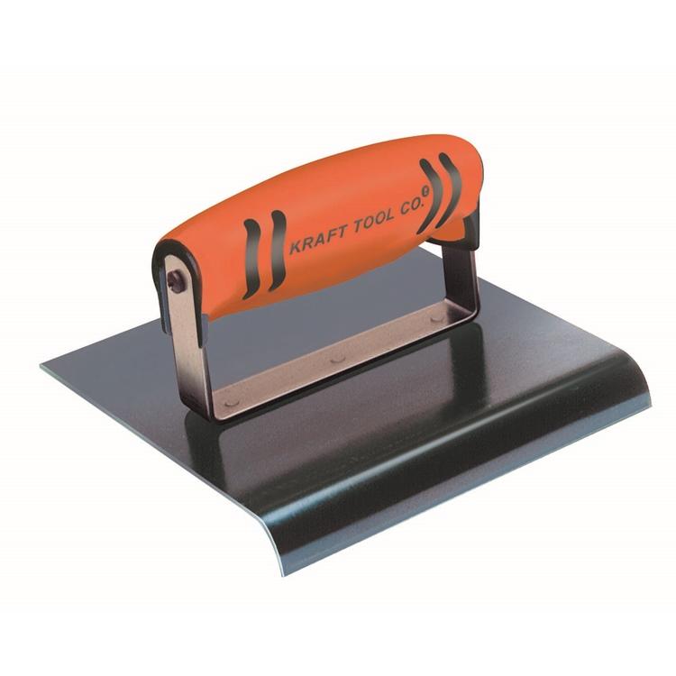"Kraft Tool-6""x3"" 3/8"" R Blue Steel Hand Edger w/ProForm® Handle"