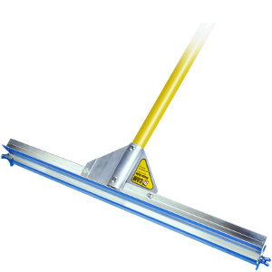 "Gauge Rake Frame with 66"" Yellow Powder-Coated Aluminum Handle"