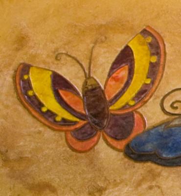 Matcrete Small Butterflies Border