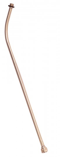 """Extension Wand - Brass 24"""" Curved Industrial-Male"""